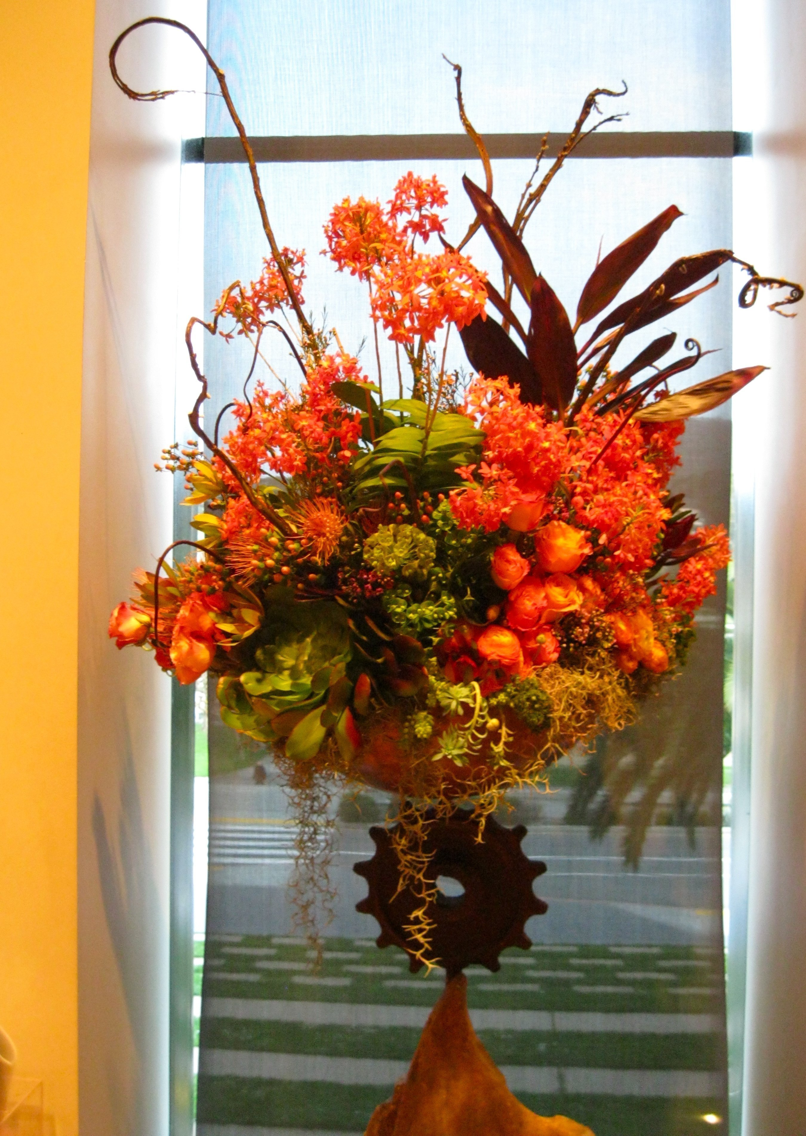 Big orange arrangement