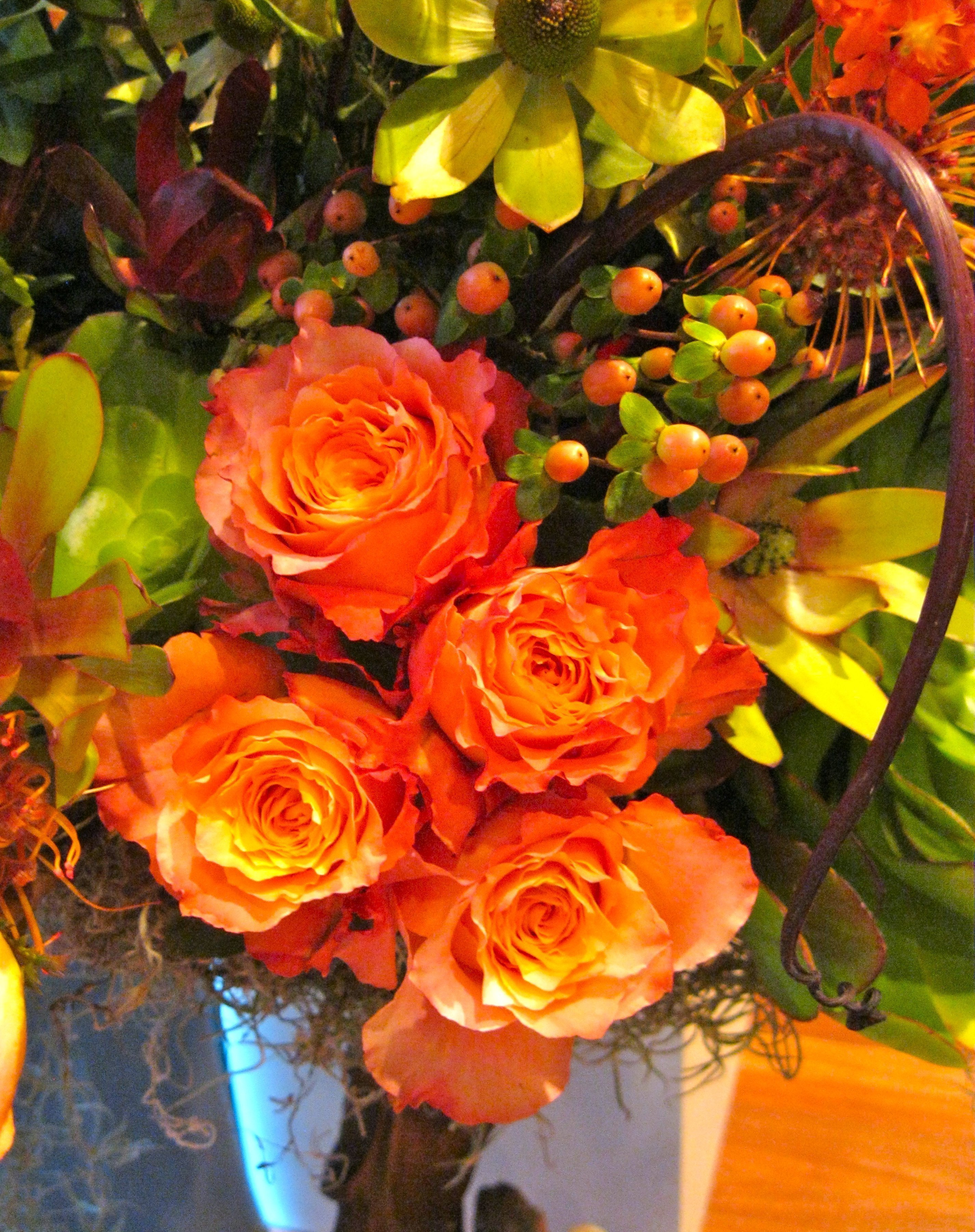 Big orange arrangement - detail