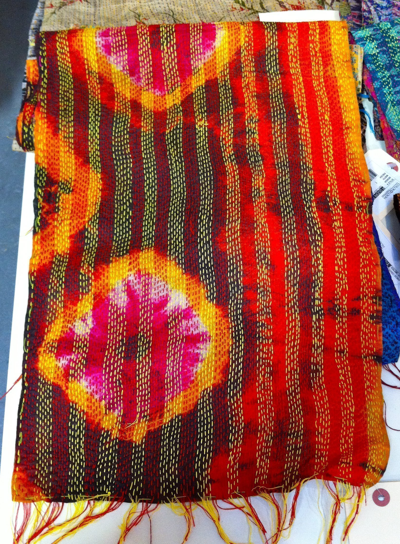 Color Loom - Ghudri Scarf with tie dye