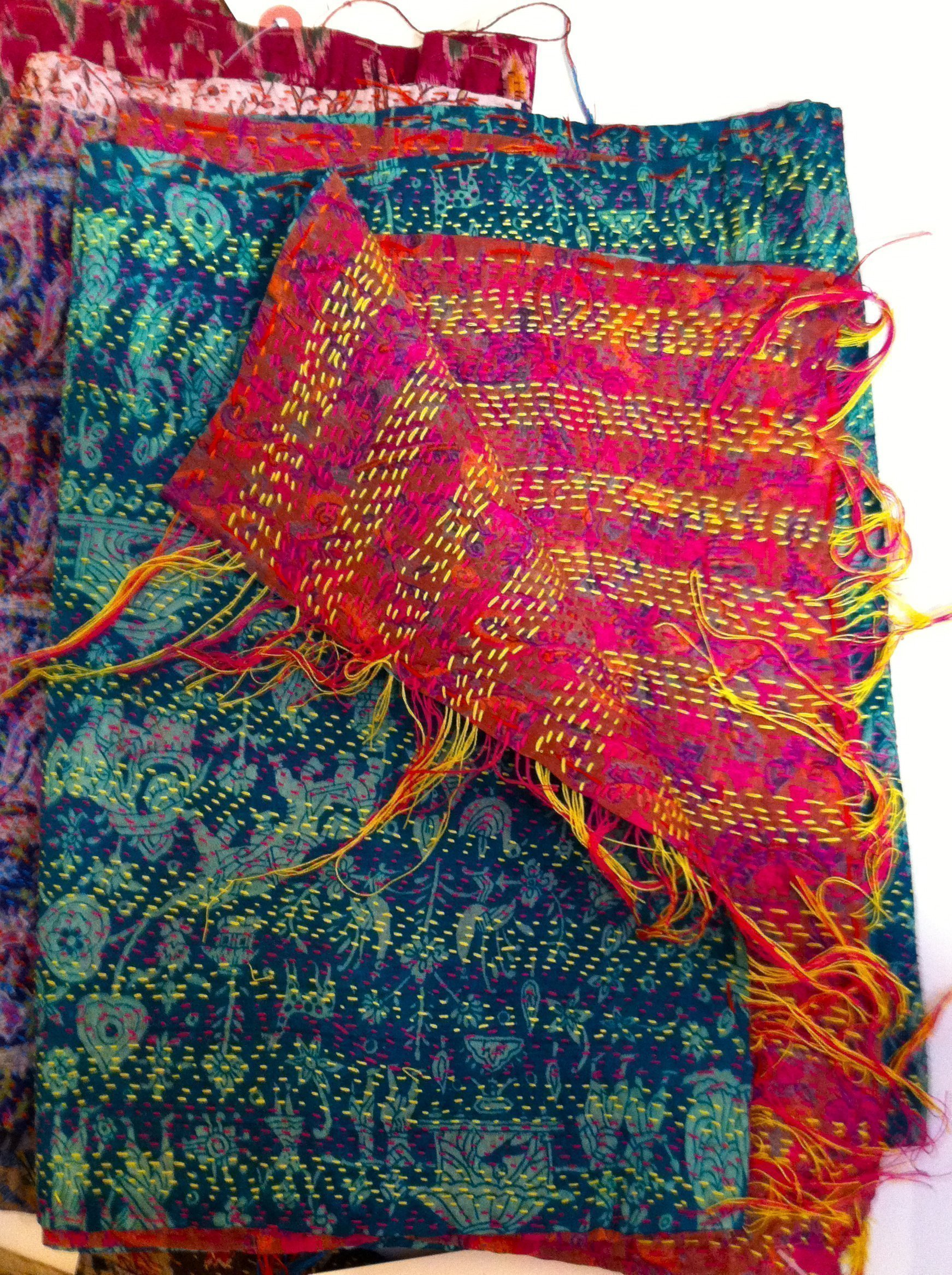 Color Loom - Ghudri Scarves - more two-sided marvels