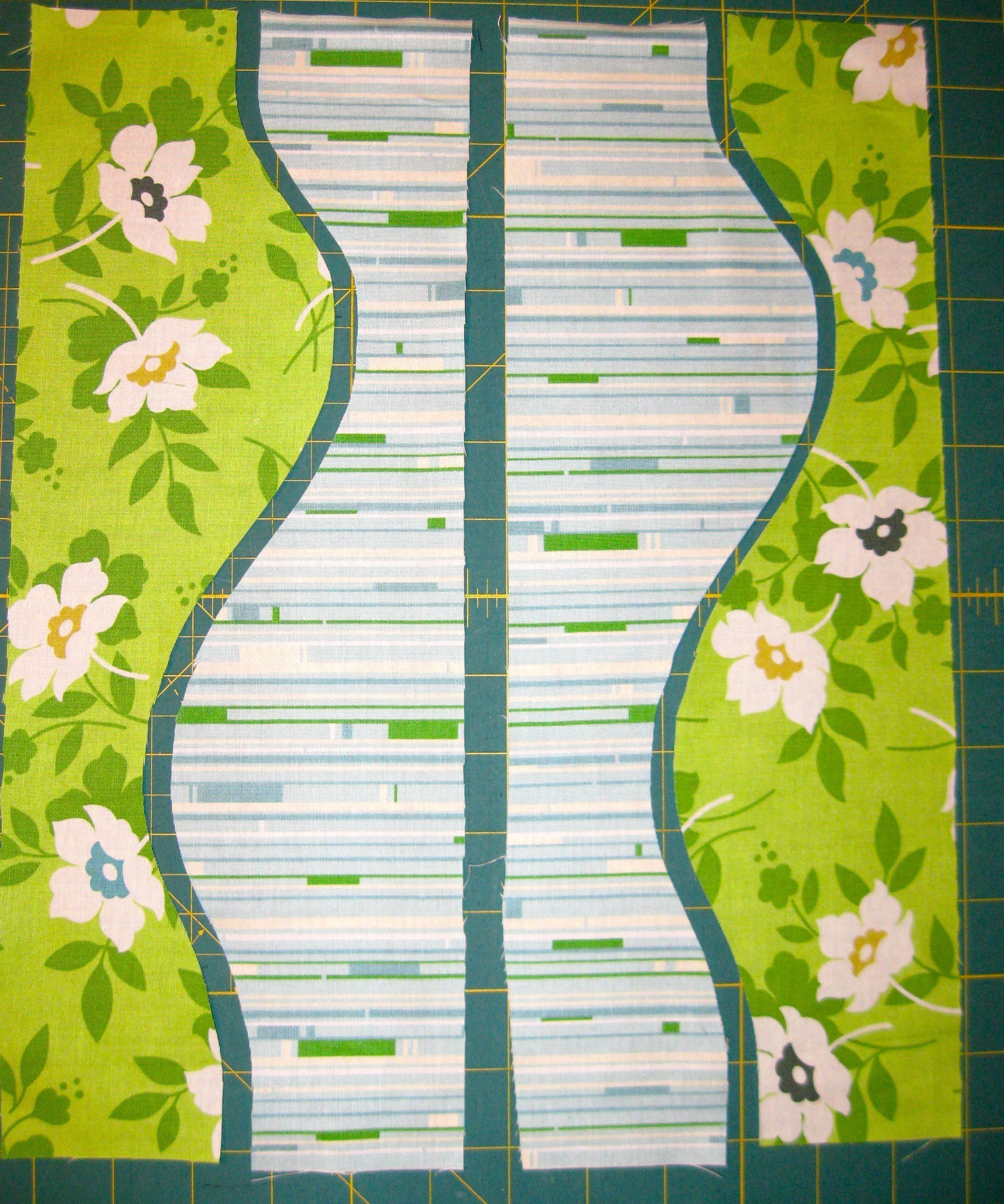 Free-cut curves make great quilt blocks
