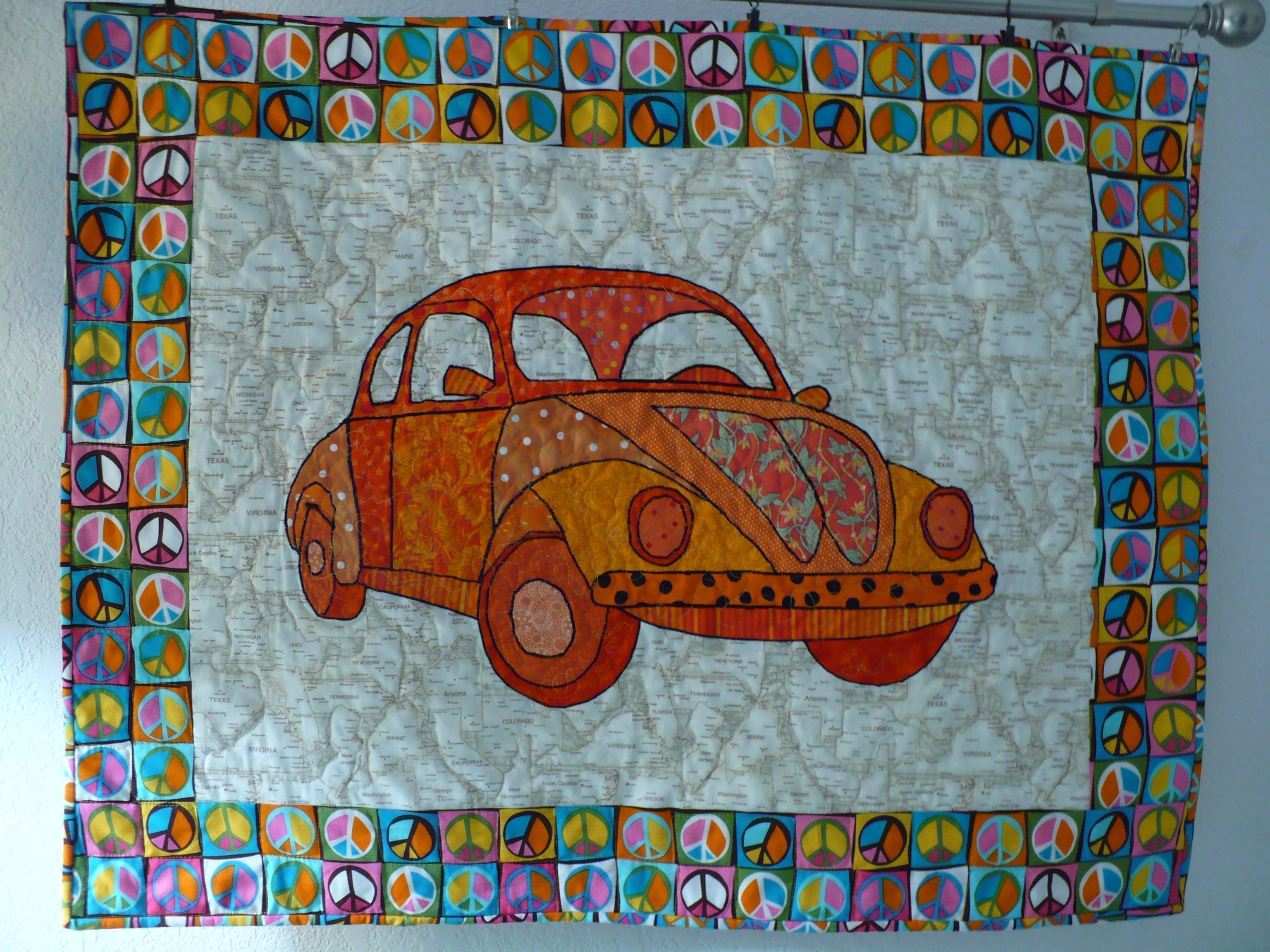 Volkswagen Bug Quilt- by Chris Leach