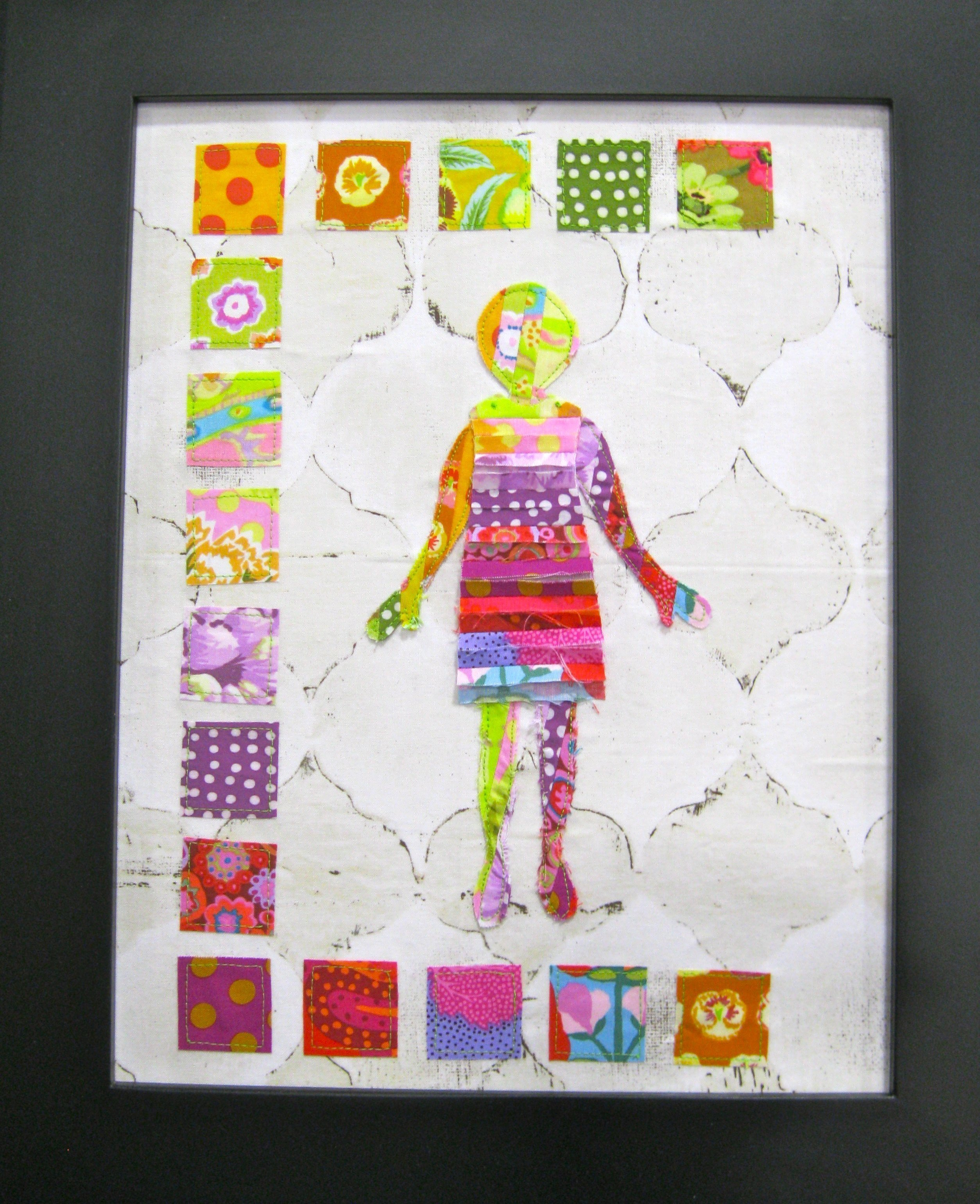 Pixie Girl Quilts paper doll wall art