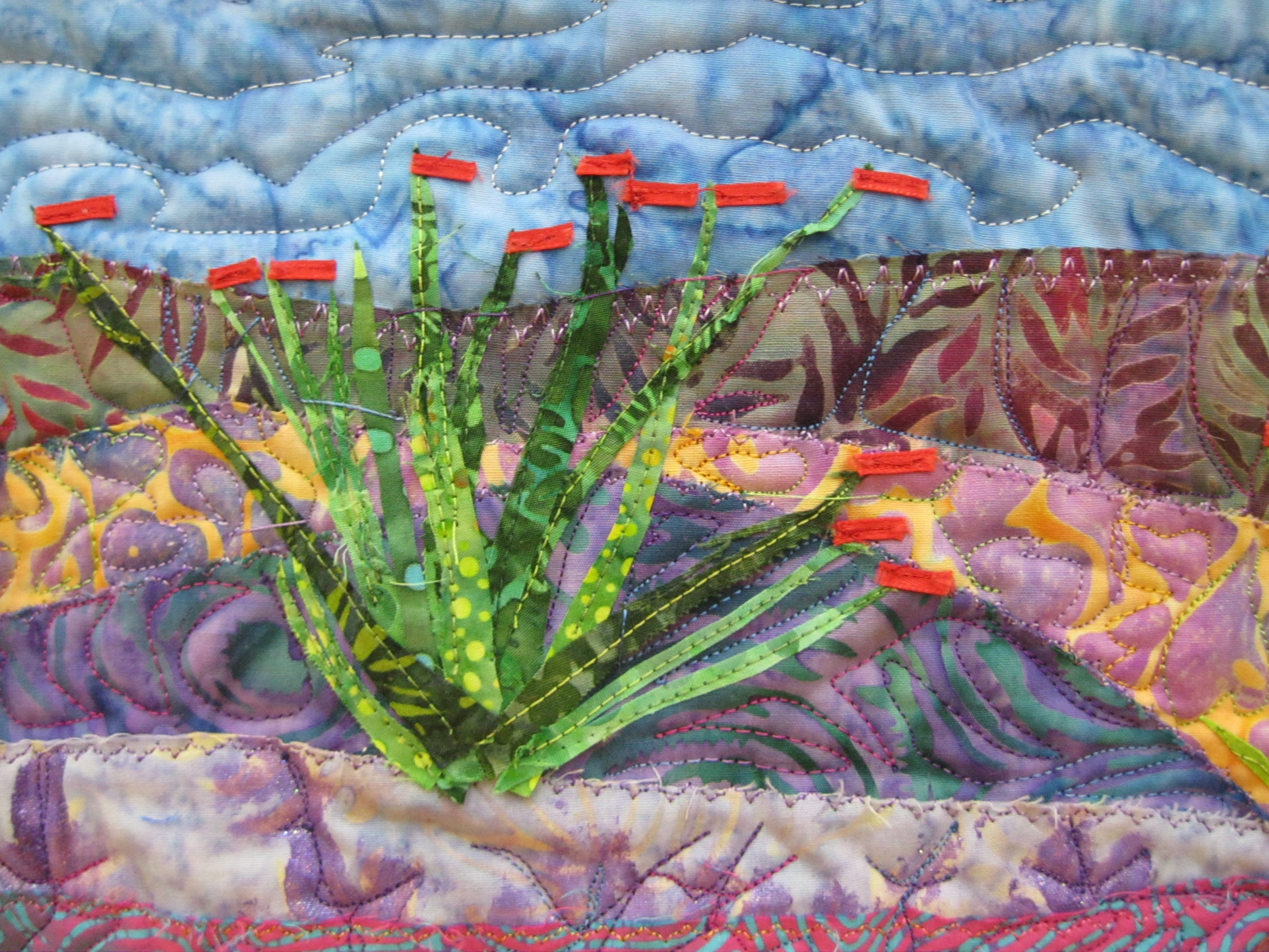 Life in the Desert - detail of succulent plant