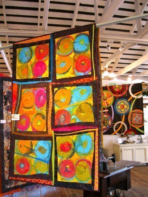 Two quilts by Renee Steinpress