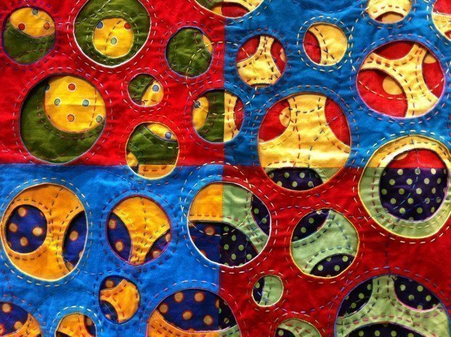 Detail of quilt by Irene MacWilliam