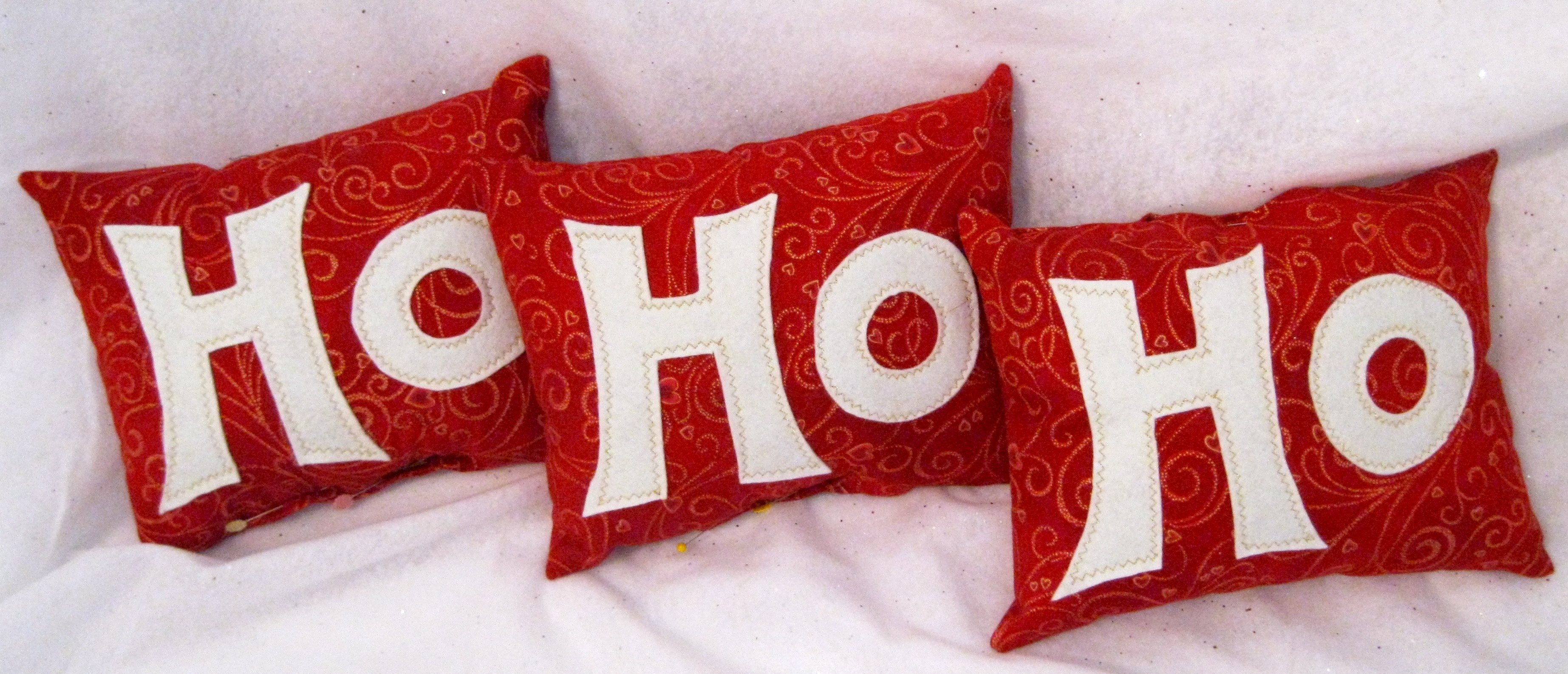 Ho Ho Ho pillows - so cute