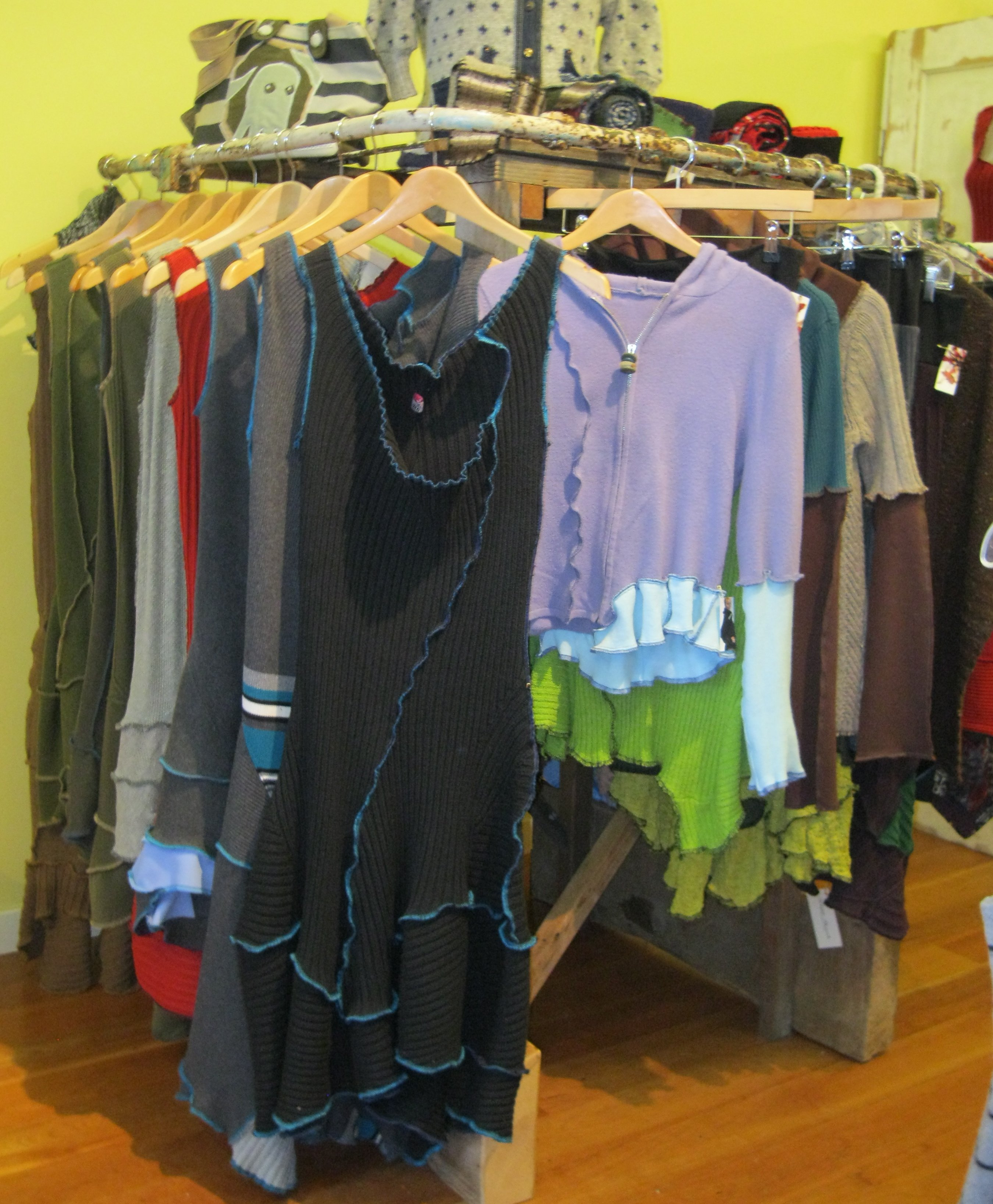 Dresses and sweaters from Miranda Caroligne