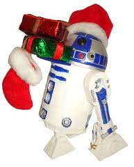 R2D2 delivering gifts for my dear friend Lynn