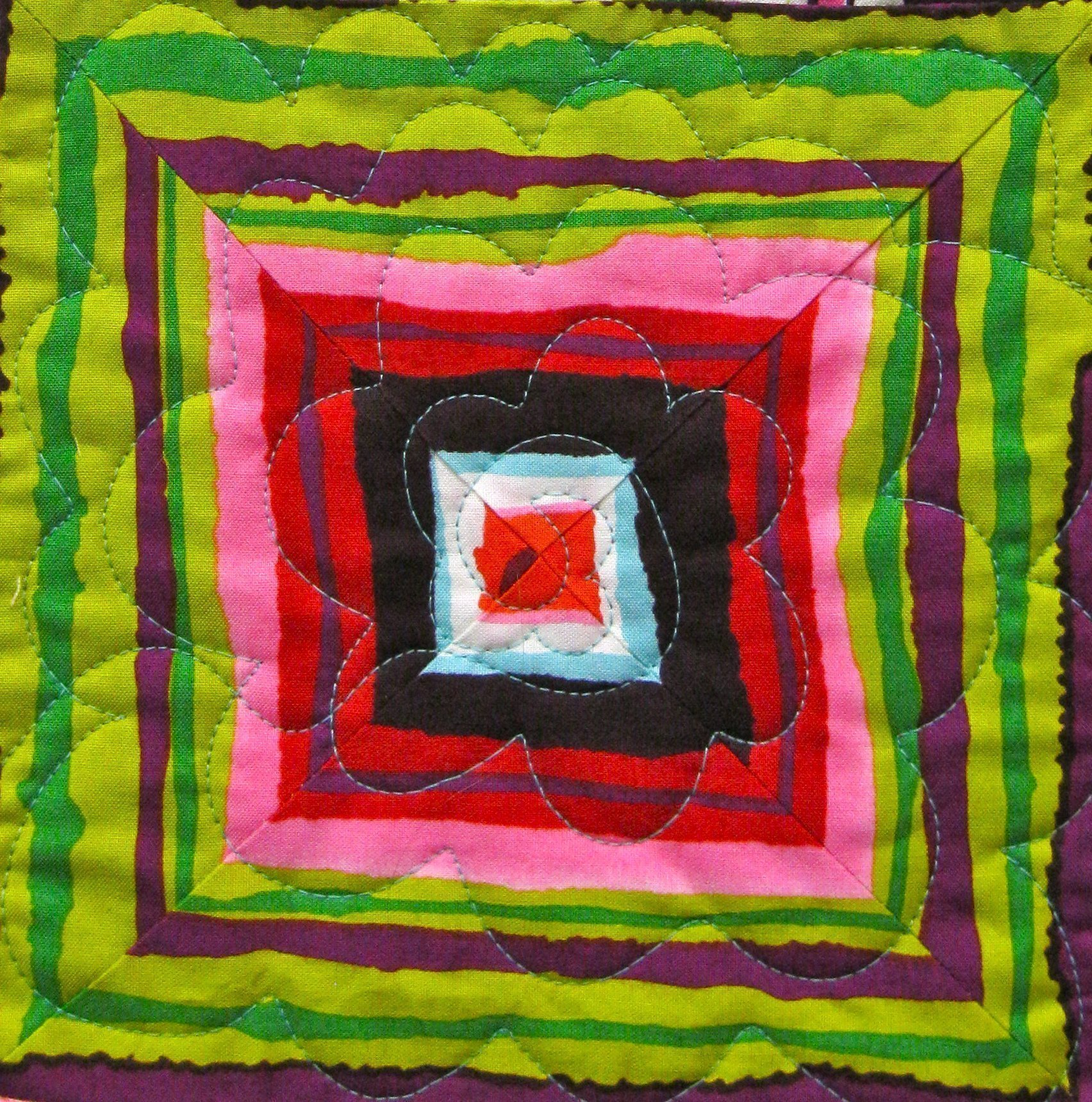 Bella Boxes quilt square close up