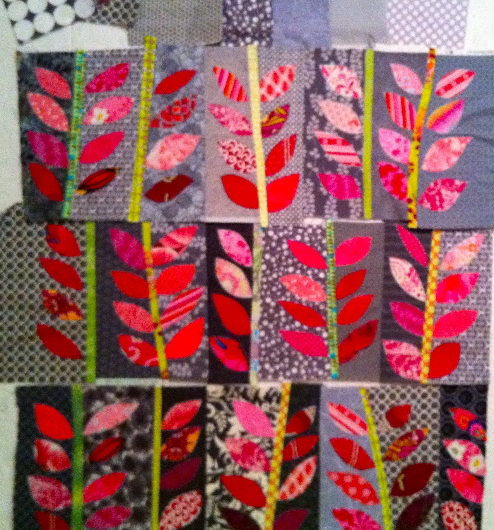 Pink Leaves - on the design wall