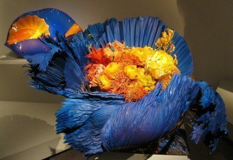 Waterlily Pond Floral Design Studio's version of Dale Chihuly's glasswork