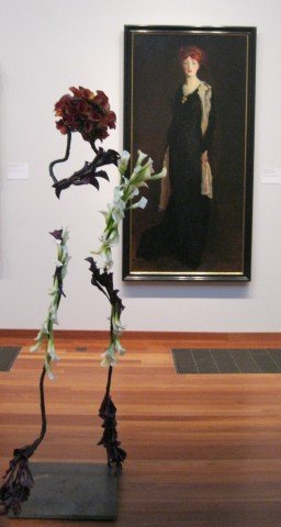 Robert Henri painting and a silhouette bouquet