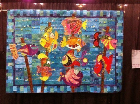 "Fish Kabobs by Mickey Depre; 49"" x 69"""