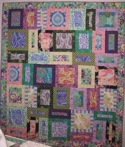 "Show Off Jewels Quilt, by Alethea Ballard; 2010. 65"" x 76.5"""