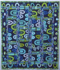 Blue Arches Quilt, by Alethea Ballard; 2008