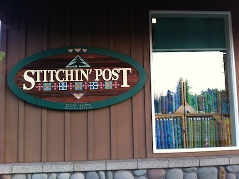 Stitchin' Post sign