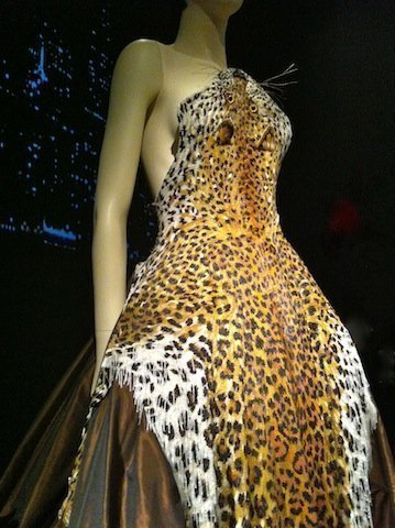 Beaded cheetah dress