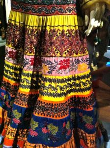 close up of Folklorico skirt