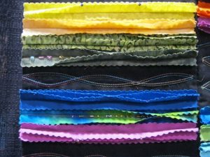detail of Seams on the Surface; by Norma Keeley
