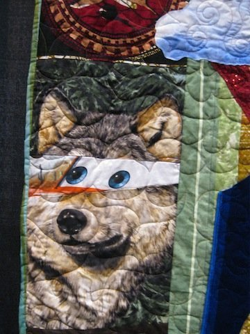 detail of Quilt for the Latest Sexagenarian, by Mike McNamara
