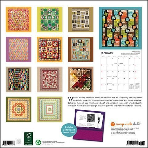 The Art of the Quilt Calendar new back cover
