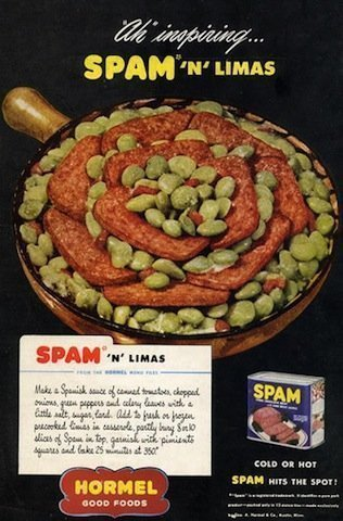 Spam - it's what for dinner at the Quinn house tonight!
