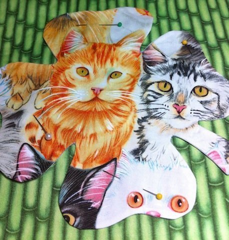 cat image on fabric - no paint