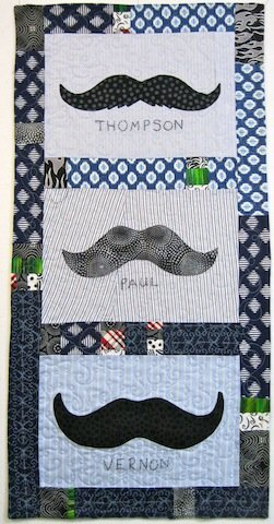 Mini Awesome Mustache quilt, by Alethea Ballard; 2012