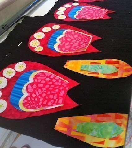 Quilted petal parts - flower view 7