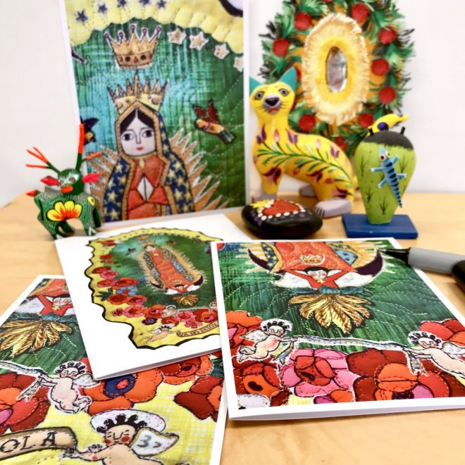 notecards set of four - la virgencita