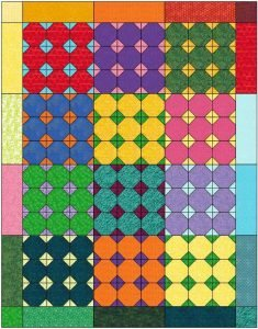 Snowball's Chance Quilt layout