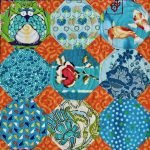 Snowball mixed fabric 9 patch